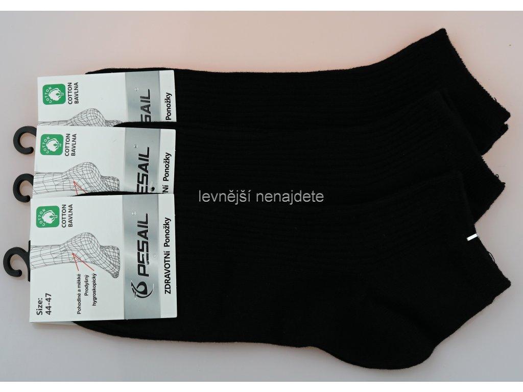 Pánské zdravotní kotníkové ponožky černé 3 páry - levnejsinenajdete.cz 523adc8f3b