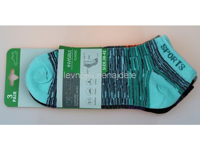 Dámské kotníkové bavlněné ponožky L7W 3 páry