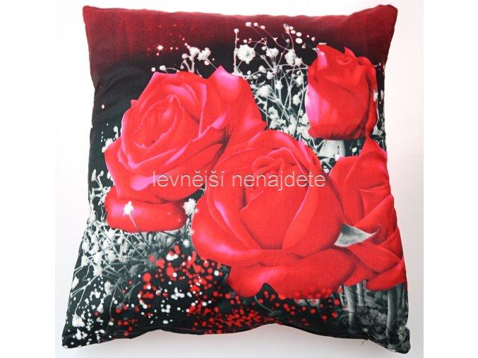 Povlak na polštářek s motivem ROMANCE 45 x 45 cm