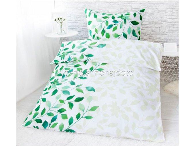Bavlněné povlečení na dvě lůžka Ivanka - zelená 2 x 140 x 200 2x 70 x 90