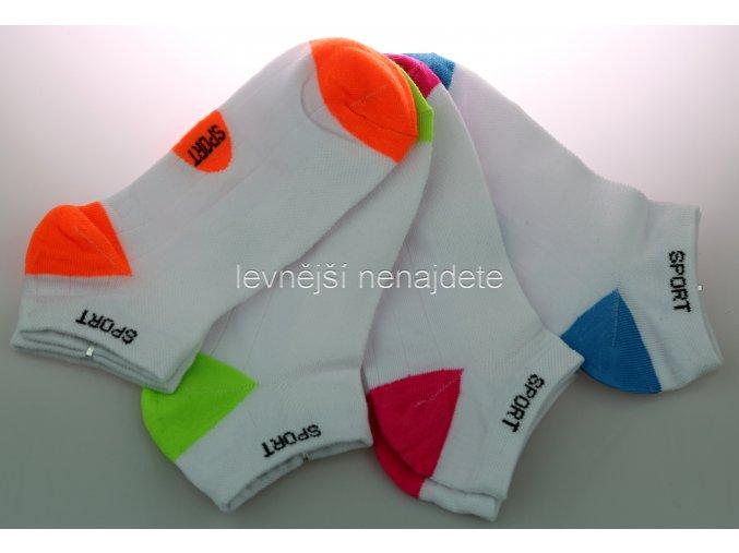 Dámské kotníkové bavlněné ponožky L8W 3 páry