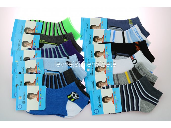 Chlapecké bavlněné kotníkové ponožky 3 páry