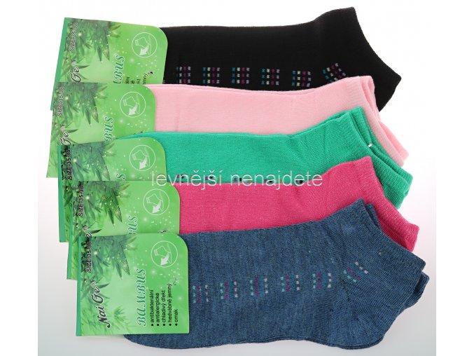 Dámské bambusové kotníkové ponožky NW 3 páry
