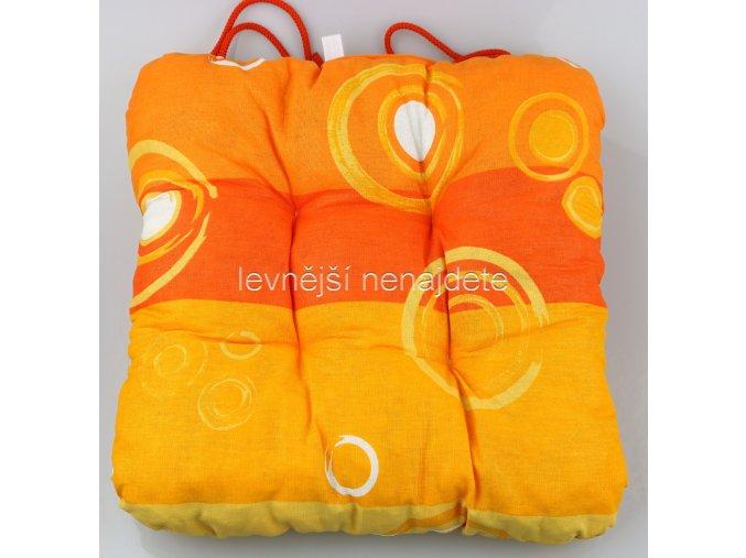 SEDÁK NA ŽIDLI bublina oranžová 40 x 40