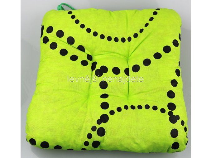 SEDÁK NA ŽIDLI kružnice zelená 40 x 40
