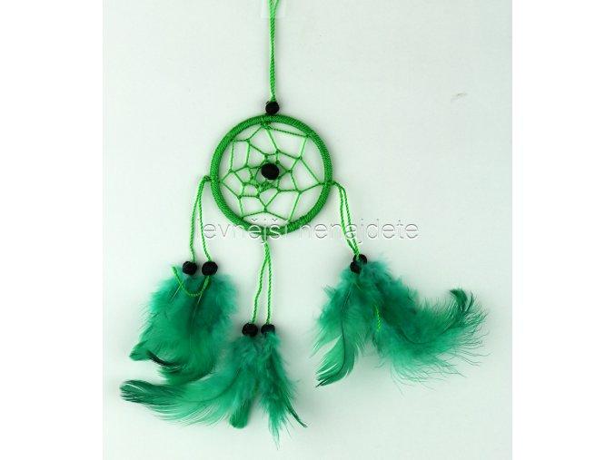 Lapač snů malý zelený 6 cm