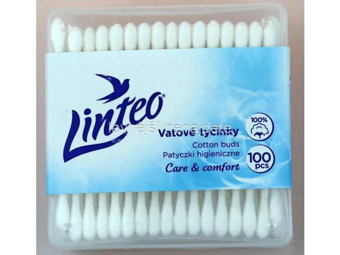 vatové tyčinky LINTEO v krabičce 100 ks