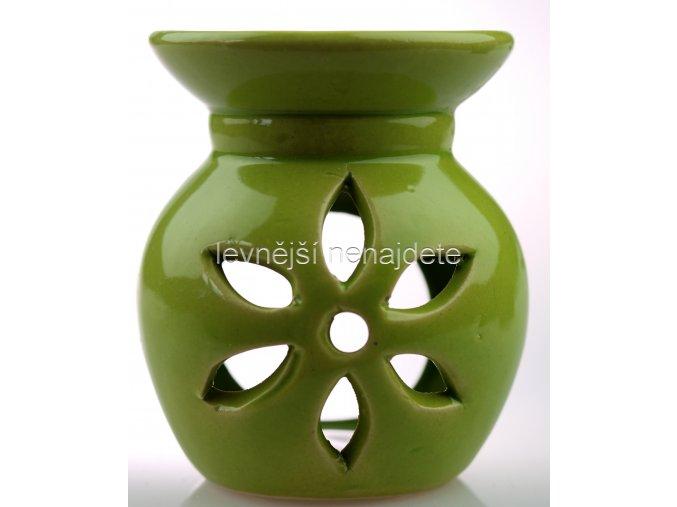 Keramická aroma lampa zelená