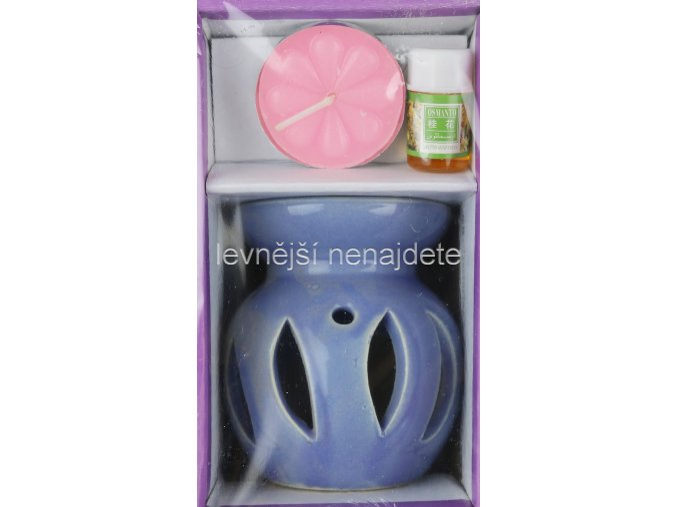 Keramická aroma lampa set modrý