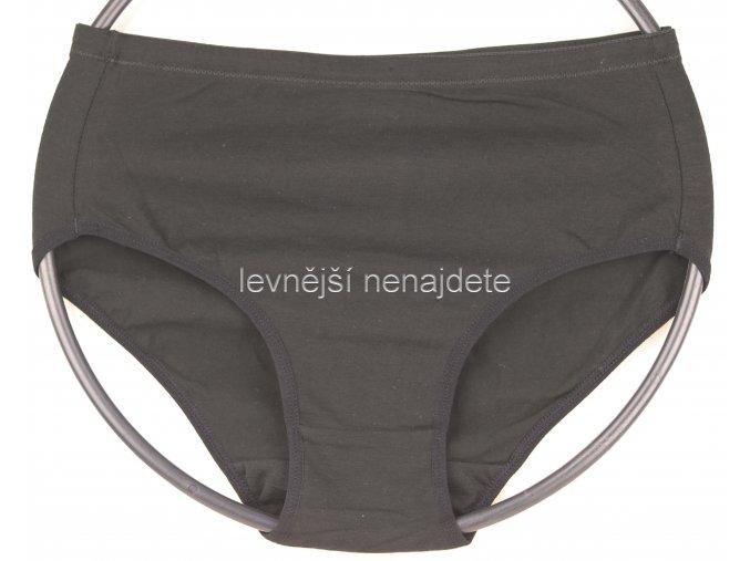 Bavlněné klasické kalhotky černé