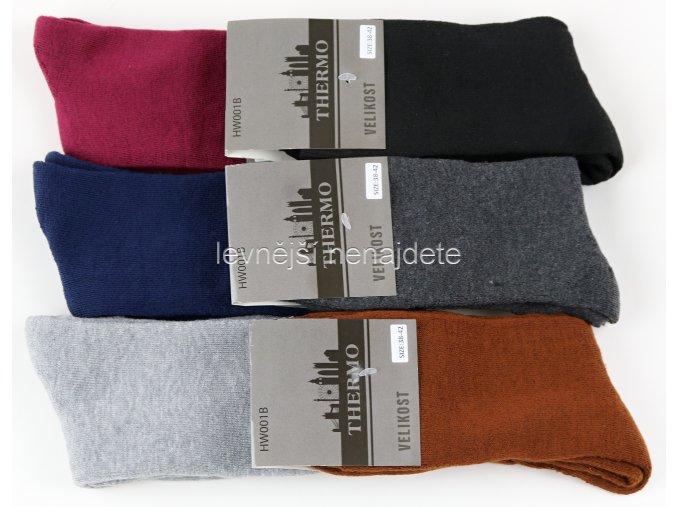 Dámské bavlněné termo ponožky bar