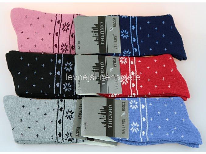 Dámské bavlněné termo ponožky hve