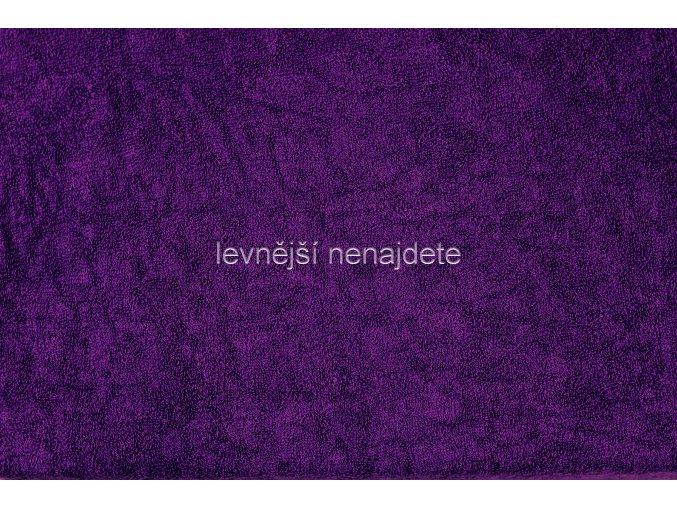 Froté prostěradlo tmavě fialové 90x200 cm