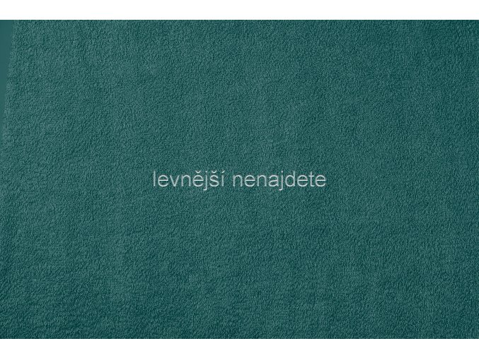 Froté prostěradlo smaragdové 90x200 cm