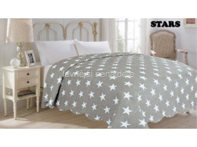 Přehoz na postel dvoulůžko STARS 220 x 240 cm