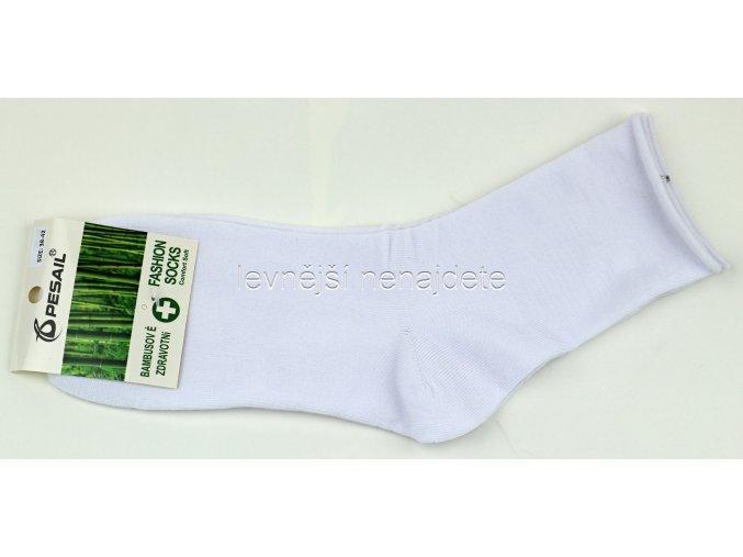 Pánské bambusové zdravotní ponožky bílé