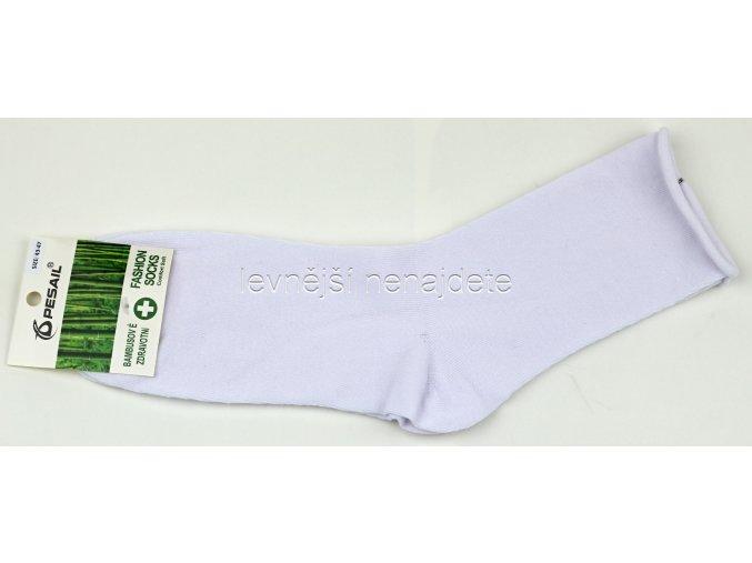 Dámské bambusové zdravotní ponožky bílé