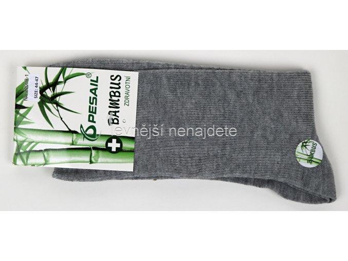 Pánské zdravotní bambusové ponožky šedé