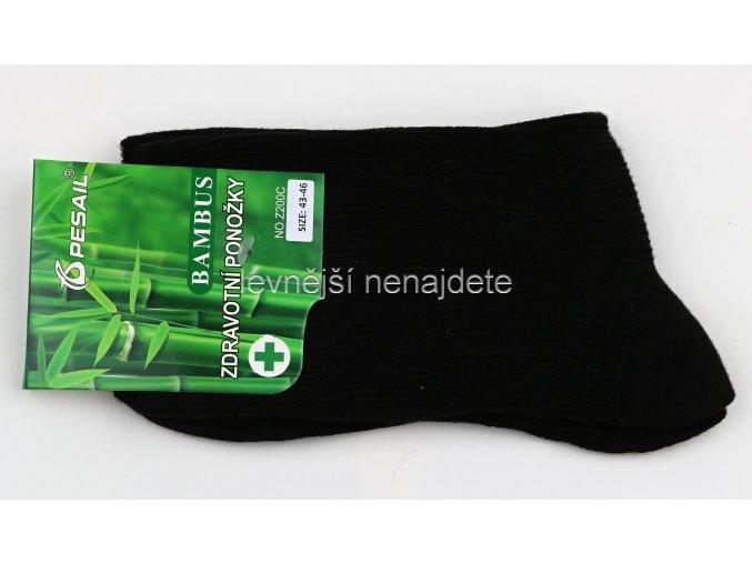 Pánské zdravotní bambusové ponožky černé