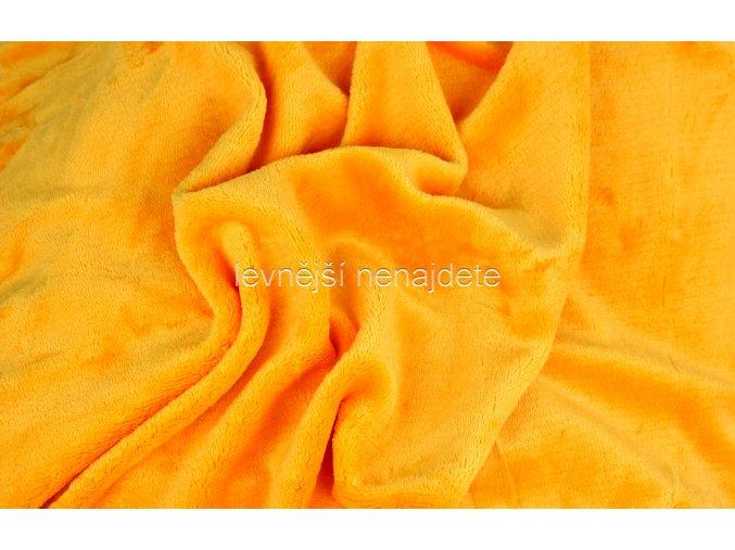 Prostěradlo mikroplyš žluté 180x200 cm