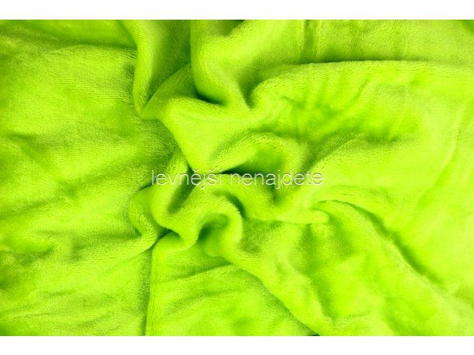 Prostěradlo mikroplyš zelené 180x200 cm