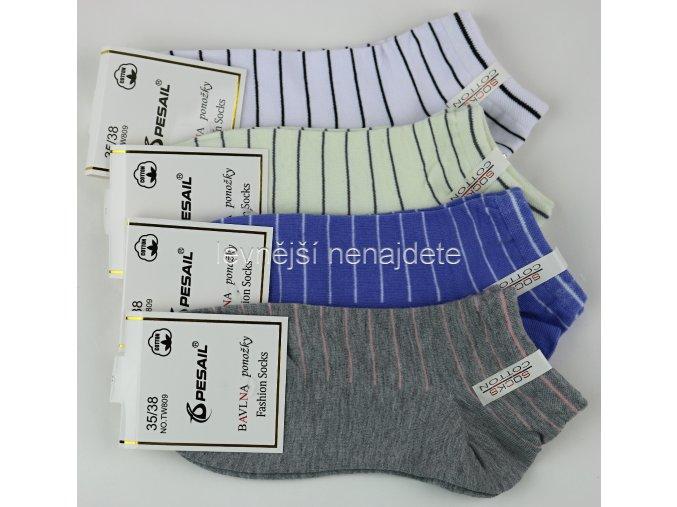 Dámské bavlněné kotníkové ponožky T9W 3 páry