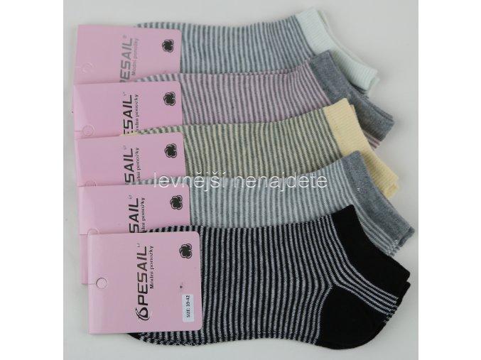 Dámské bavlněné kotníkové ponožky RW 3 páry