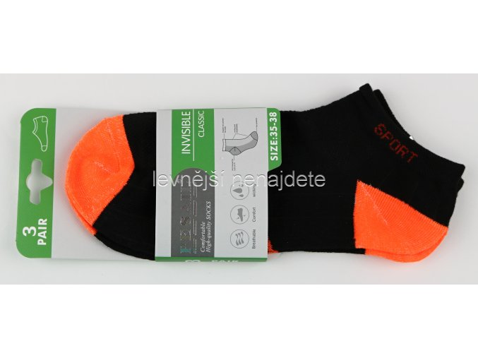 Dámské kotníkové bavlněné ponožky L89W 3 páry