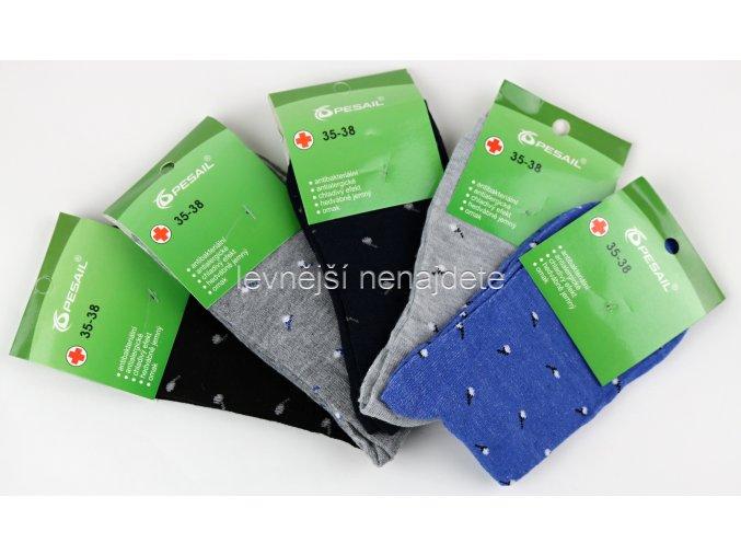 Dámské bavlněné ponožky vzo 5 kusů