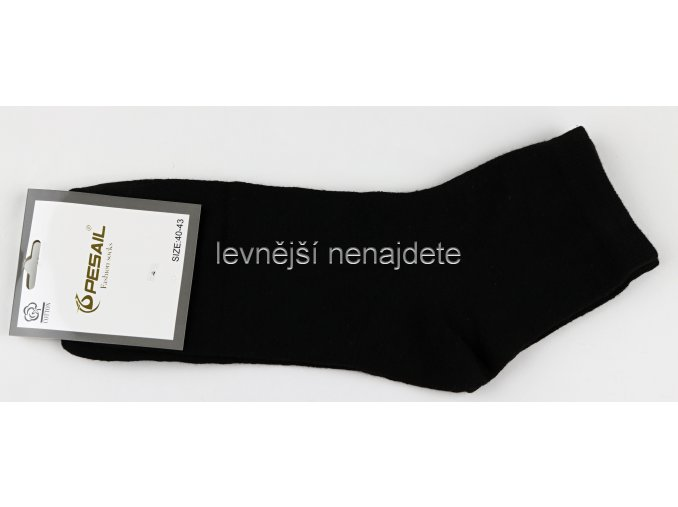 Pánské bavlněné ponožky černé