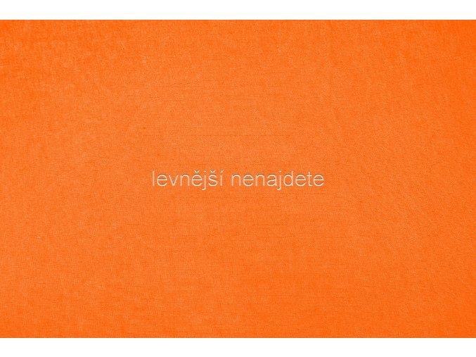 Jersey prostěradlo oranžové  90x200 cm