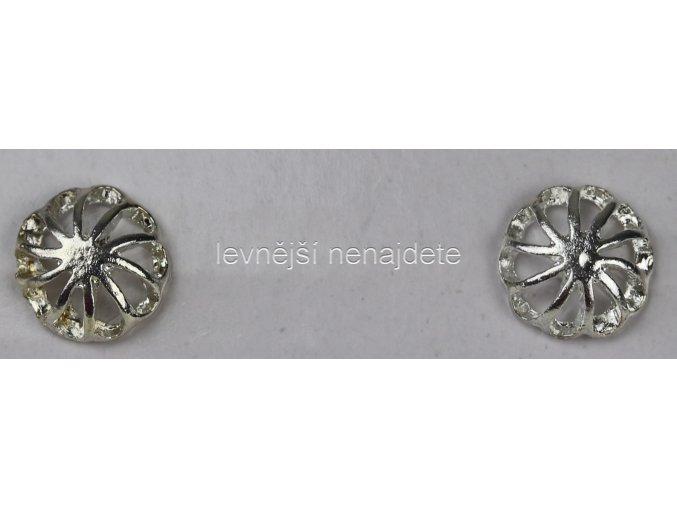 Náušnice kytička stříbrná