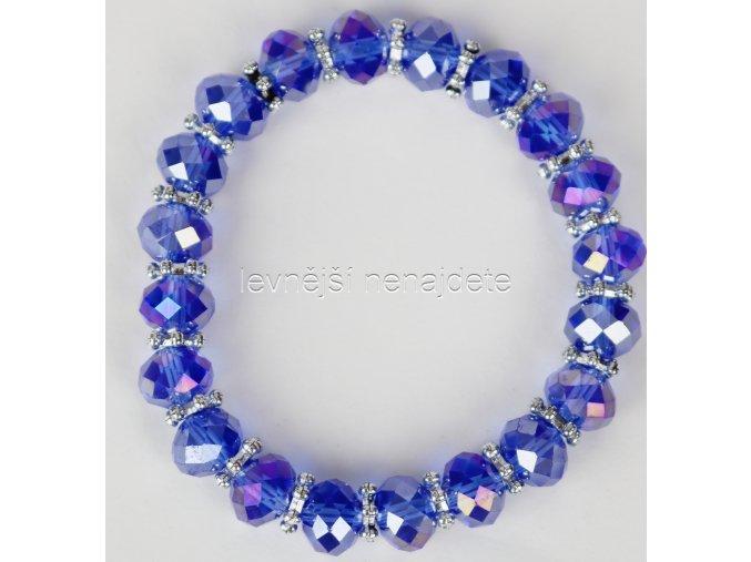 Náramek pružný modrý
