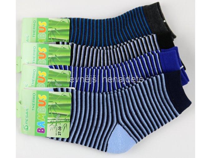 Chlapecké bambusové termo ponožky 3 páry