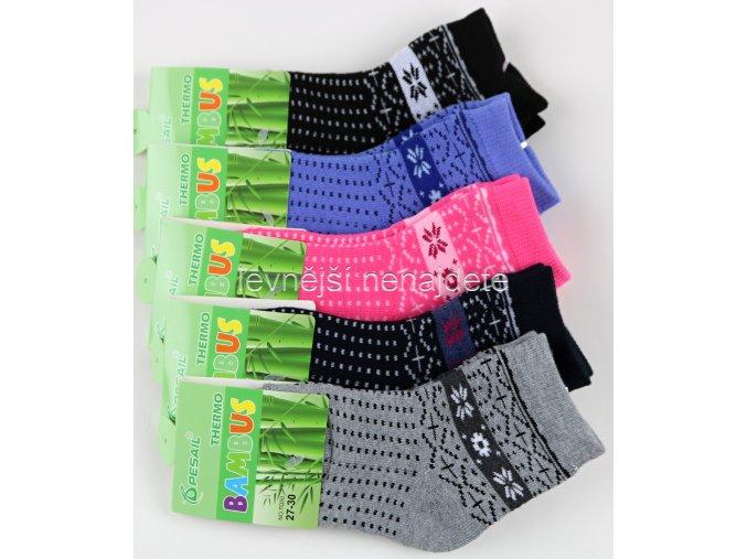 Dívčí bambusové termo ponožky 3 páry