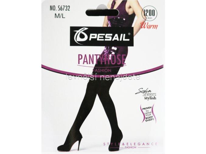 Dámské bavlněné punčochové kalhoty černé S6