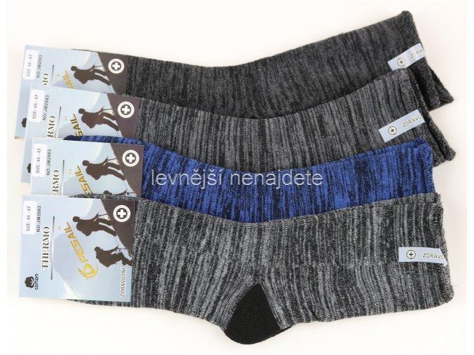 Pánské zdravotní bavlněné termo ponožky JM