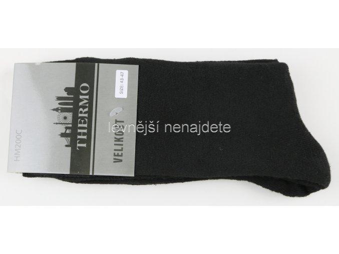 Pánské bavlněné termo ponožky černé