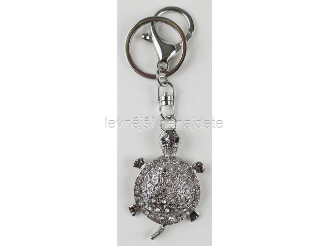 Přívěsek na klíček želva stříbrná