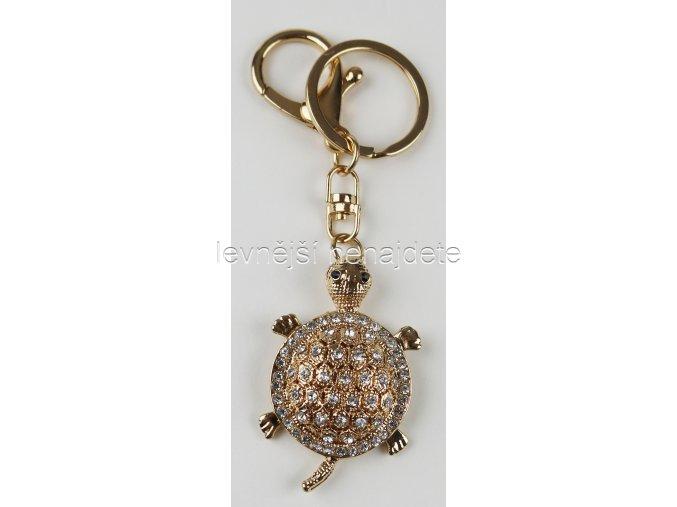 Přívěsek na klíček želva zlatá