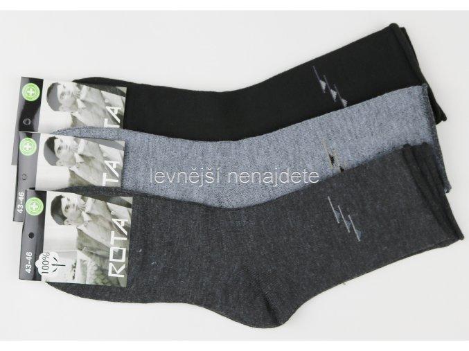 Pánské zdravotní bavlněné ponožky 3 páry