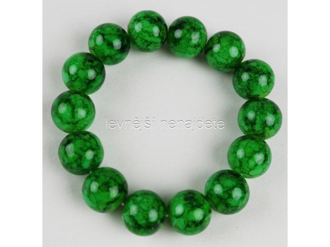 Náramek pružný zelený