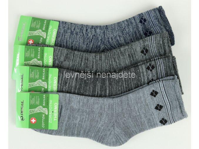 Pánské zdravotní termo ponožky mel