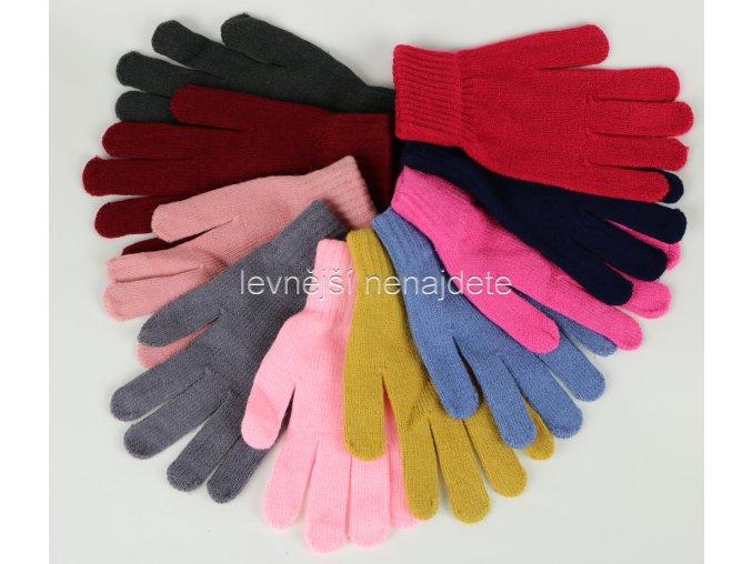 Dámské pletené prstové rukavice barevné