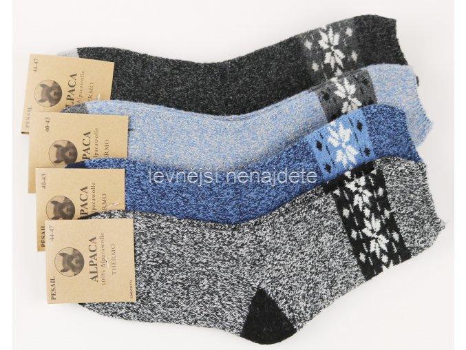 Pánské vlněné ponožky vzor alpaca