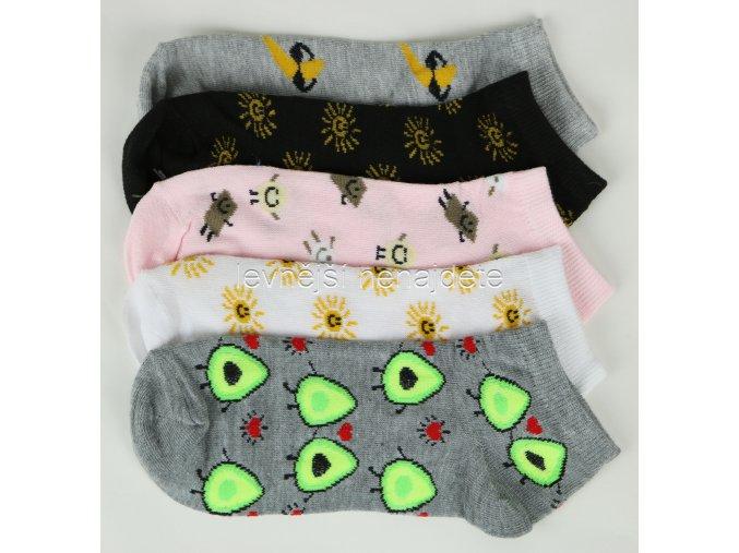 Dámské kotníkové ponožky ban 3 páry (sport)