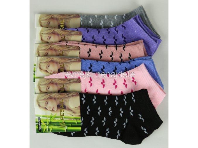 Dámské bambusové kotníkové ponožky E26W 3 páry
