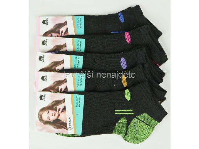 Dámské bavlněné kotníkové ponožky P06W 3 páry