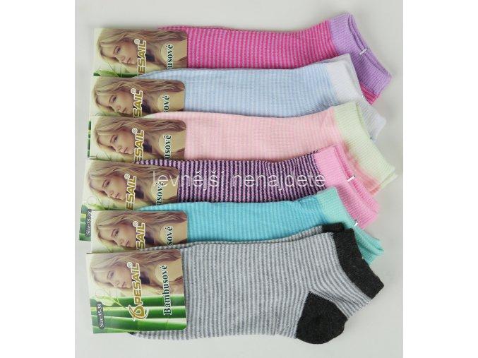 Dámské bambusové kotníkové ponožky E03W 3 páry