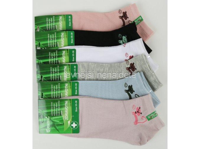 Dámské bambusové zdravotní kotníkové ponožky X38W 3 páry